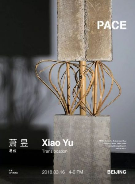 "Poster of Xiao Yu Translocation 440x598 - Pace Gallery announces ""Xiao Yu: Translocation"" opening March 16 in Beijing"