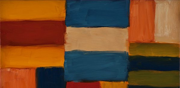 """Sean Scully Cut Ground Orange Pink 6.11 2011 Oil on linen 71.3x81.3cm 598x294 - Hong Kong Arts Center presents """"Sean Scully: Standing on the Edge of the World"""""""