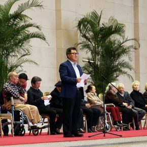 "03 Director of National Museum of China Wang Chunfa delivered a speech at the opening ceremony 290x290 - He has never stopped drawing though he has reached old age: ""Dai Ze Art Exhibition"" Debuted at the National Museum of China"
