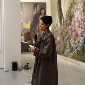"05 The participating artist and award winner Shi Ziyuan 290x290 - My Spring is Hidden in the Sleeves: CAFA ""Fine Arts Academic Award"" Series of Exhibitions had its debut"