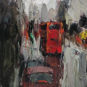 05 Ting Zhou Red Double Decker 1 290x290 - IMPRESSION· IN THE RAIN: Ting Zhou Solo Exhibition will be presented at AVA Gallery & Art Center