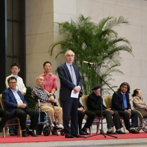 "06 Ambassador of Pakistan to People's Republic of China Mr. Masood Khalid delivered a speech at the opening ceremony 290x290 - He has never stopped drawing though he has reached old age: ""Dai Ze Art Exhibition"" Debuted at the National Museum of China"
