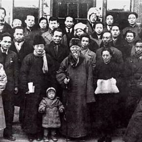 07 In 1946 a group photo of Xu Beihong and his colleagues from the Beiping Artists and Writers Association 290x290 - Wu Hongliang: Xu Beihong and No. 2A Dayabao Hutong