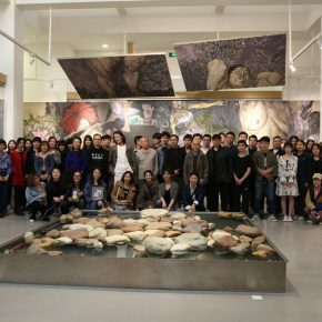 "09 Group photo of the honored guests artists teachers and students 290x290 - My Spring is Hidden in the Sleeves: CAFA ""Fine Arts Academic Award"" Series of Exhibitions had its debut"