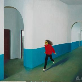 "18 Wei Qimei Corridor of the High School Affiliated to CAFA 118 x 140 cm 1990 oil on canvas in the collection of CAFA Art Museum 290x290 - ""Go With the Times: CAFA Centennial Celebration Exhibition"" Kicked Off"