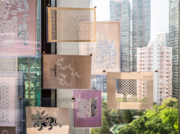 "Exhibition View 01 598x448 - Asia Art Archive presents ""Lines of Flight: Nilima Sheikh Archive"" in Hong Kong"