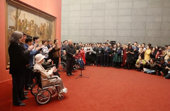 The Opening Ceremony of'Xu Beihong Living Art Forever' 598x391 - The Central Academy of Fine Arts kicked off its centennial celebrations on April 1 2018