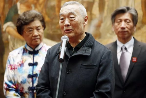 Xu Qingping Curator of Xu Beihong Memorial Museum and Dean of Xu Beihong Art Research Institute Renmin University of China addressed the opening ceremony 598x399 - The Central Academy of Fine Arts kicked off its centennial celebrations on April 1 2018