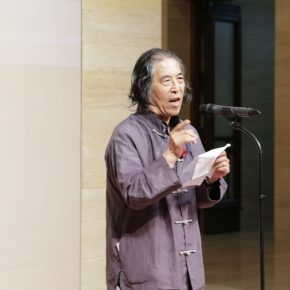 "02 The curator Liu Xilin delivered a speech 290x290 - Urban Landscapes Presented in Ink Paintings: ""Ink Art – Wong Hau Kwei"" Debuted at the National Art Museum of China"