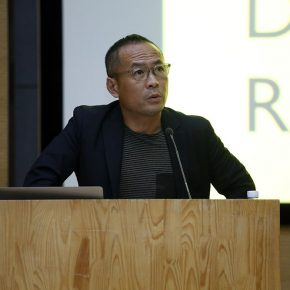 "02 The host Zhang Ga Director of the CAFA Center of Art and Technology 290x290 - Siegfried Zielinski: ""The Sacred Machines: Field Study of the Deep Time Man-Machine Relationship"""