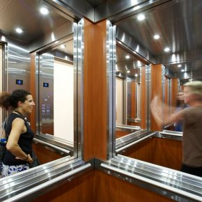 """04 Leandro Erlich Elevator Maze 2011 Mixed media 260x500x300cm 290x290 - HOW Art Museum presents """"Construction of Reality"""" featuring work by Argentine artist Leandro Erlich"""