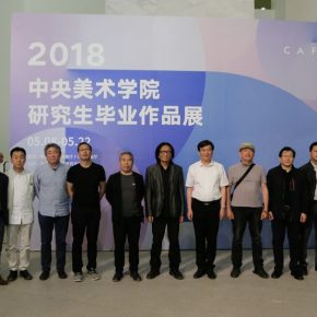 06 Group photo of the honored guests 290x290 - CAFA's Graduate Education that looks back over the last 40 Years: 2018 CAFA Graduate Students' Graduation Artwork Exhibition has been unveiled