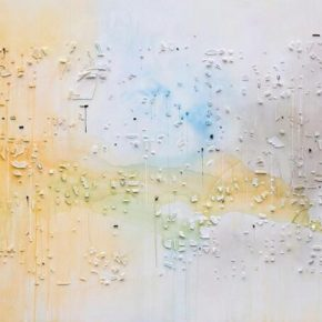 "09 Hong Hao Everchanging Appearance No. 11 2018 watercolor dust acrylic and molding material on canvas 150x240x4.5cm 290x290 - Pace Beijing presents ""Hong Hao: Border"" showcasing his recent works"