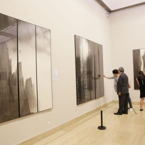 "09 Installation view of the exhibition 2 290x290 - Urban Landscapes Presented in Ink Paintings: ""Ink Art – Wong Hau Kwei"" Debuted at the National Art Museum of China"