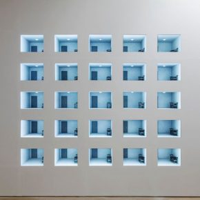 """12 Leandro Erlich The Room Surveillance II 20062018 Flat screen monitors Variable Photo by Hasegawa Kenta 290x290 - HOW Art Museum presents """"Construction of Reality"""" featuring work by Argentine artist Leandro Erlich"""