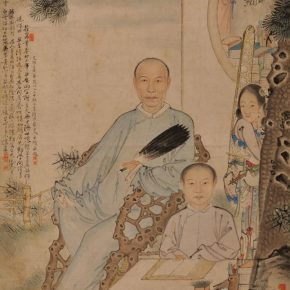 "13 Xu Dazhang Teaching the Son ink and color on paper 81 x 51.5 cm Qing Dynasty in the collection of Xu Beihong Memorial Hall 290x290 - A Review of the Contemporary Meaning of Realism Started with ""Xu Beihong – Living Art Forever"""