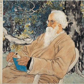 "14 Xu Beihong ""Portrait of Tagore"" ink and color on paper 51 x 50 cm 1940 in the collection of Xu Beihong Memorial Hall 290x290 - A Review of the Contemporary Meaning of Realism Started with ""Xu Beihong – Living Art Forever"""