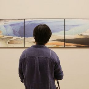 "15 Installation view of the exhibition 2 290x290 - Urban Landscapes Presented in Ink Paintings: ""Ink Art – Wong Hau Kwei"" Debuted at the National Art Museum of China"