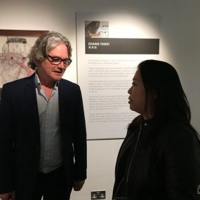 "16 Chris Henry Curator of Surgeons' Hall Museum and Henrietta Tsui Leung Co Founder and Director of Galerie Ora Ora 290x290 - A Tale of Two Cities: Solo exhibitions of Zhang Yanzi that are being held in Edinburgh and Bath, focusing on the philosophy of ""treatment"""