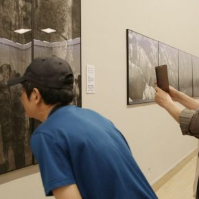 "16 Installation view of the exhibition 2 290x290 - Urban Landscapes Presented in Ink Paintings: ""Ink Art – Wong Hau Kwei"" Debuted at the National Art Museum of China"