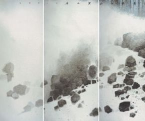 "19 Wong Hau Kwei Cascading Galaxy 175 x 720 cm 2017 290x241 - Urban Landscapes Presented in Ink Paintings: ""Ink Art – Wong Hau Kwei"" Debuted at the National Art Museum of China"
