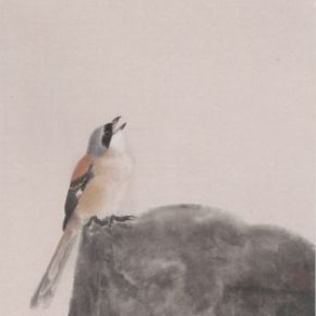 22 Fang Zhenghe Cao Zhi's Poetic 108 x 35 cm ink and color on paper 2017 290x290 - Tasteful Leisure among Flowers – Contemporary Chinese Bird-and-Flower Painting Exhibition