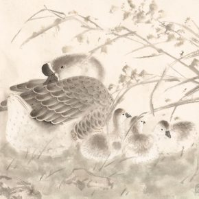 24 Xu Xiaobin Leisure No.1 35 x 46 cm ink and color on paper 2015 290x290 - Tasteful Leisure among Flowers – Contemporary Chinese Bird-and-Flower Painting Exhibition