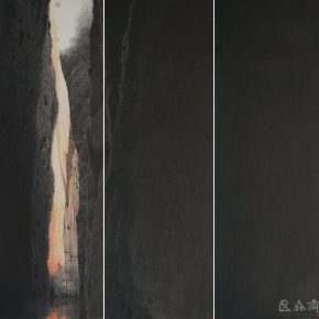 "25 Wong Hau Kwei Sketches of Taining – Rulong Pool ink and color on paper 180 x 180 cm 2015 290x290 - Urban Landscapes Presented in Ink Paintings: ""Ink Art – Wong Hau Kwei"" Debuted at the National Art Museum of China"