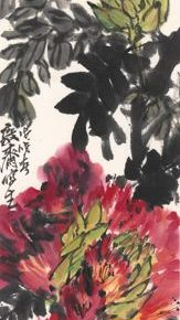 25 Xu Dunping Sketch of Flowers of Xishuangbanna No.1 138 x 23 cm ink and color on paper 2018 163x290 - Tasteful Leisure among Flowers – Contemporary Chinese Bird-and-Flower Painting Exhibition