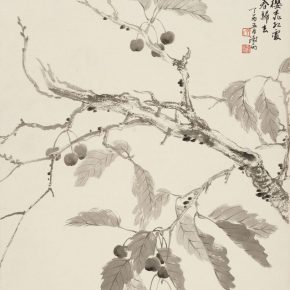 27 Yin Shuyu Red Cherries Announce the End of Spring 57 x 48 cm ink and wash on paper 2017 290x290 - Tasteful Leisure among Flowers – Contemporary Chinese Bird-and-Flower Painting Exhibition