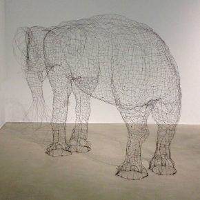 Fu Xiaotong Empty Elephant 2015 Installation 250x160x100cm 290x290 - Fu Xiaotong