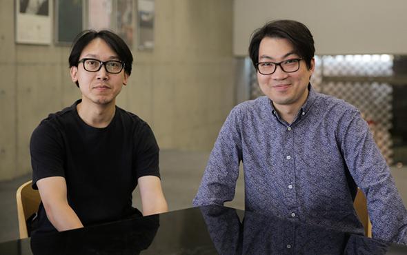 00 Wang Jie left and Chen Weiping right - Wang Jie & Chen Weiping: Designers of the CAFA Centennial Celebration Logo