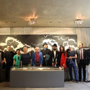 """03 Opening Ceremony at Hall of Carlo Alberto Scarpa 1 290x290 - Contemporary Art Exhibition of China """"Splendors of the sun and moon"""" made its debut in Venice"""