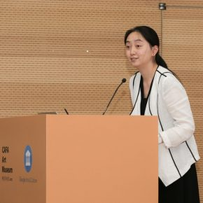 "04 Assistant Director of the CAFA Art Museum Gao Gao chaired the initiation ceremony 290x290 - The Collision of Art and Technology: a Cooperation between ""CAFA Art Museum and Google Arts & Culture"" was officially initiated"