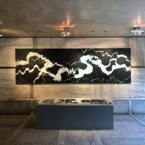 """07 Fissuring——Transcending Time and Space No.3》 Qiu Deshu Acrylic on Xuan paper and canvas size:122X400cm 2010 1 290x290 - Contemporary Art Exhibition of China """"Splendors of the sun and moon"""" made its debut in Venice"""