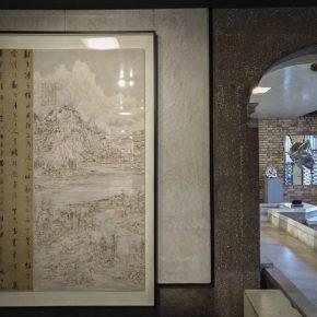 "10 Hou Shan——Guo Shangxian's cursivehandwriting theory Wang Tiande Xuanpaper ink flame Guo Shangxians Calligraphy 196.5X132.5cm 2017 1 290x290 - Contemporary Art Exhibition of China ""Splendors of the sun and moon"" made its debut in Venice"