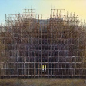 12 Zhang An Monument 200x155cm Tempera on canvas 290x290 - Wang Guangle: Unexamined Life Is Not Worth Living
