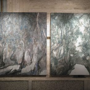 """14 Purple Forest Luojia Rock Wang Yabin Oil on canvas 165x146cm 164x125cm 2017 1 290x290 - Contemporary Art Exhibition of China """"Splendors of the sun and moon"""" made its debut in Venice"""