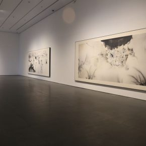 """19 Exhibition View of""""INTO ASHES Liu Qinghe Solo Exhibition"""" 290x290 - Combined with Light, """"Into Ashes"""" While Spreading Thoughts: Liu Qinghe's New Ink and Wash Narrative"""