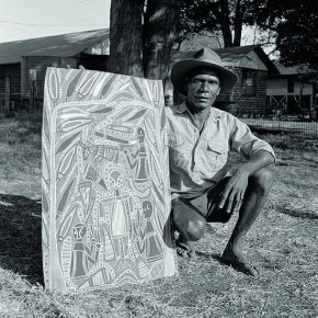 "David MALANGI Manharrŋu clan Manyarrŋu language Dhuwa moiety 1927–1999 290x290 - The National Museum of Australia announces ""Old Masters: Australia's Great Bark Artists "" starts its tour in China on July 3"