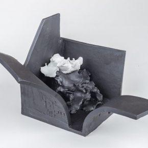 """Space Deconstruction 4 2018 Porcelain fire to 1300C gas reduction. 290x290 - Taoxichuan Ceramic Art Avenue Art Gallery presents Renqian Yang's exhibition """"Construct Deconstruction"""""""