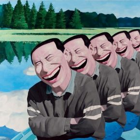 "Yue Minjun On the Lake 1994 290x290 - Long Museum (West Bund) announces ""Turning Point – 40 Years of Chinese Contemporary Art"" opening June 16 in Shanghai"