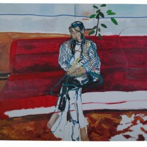 Zheng Haozhong Red Couch 4 2017 Oil on canvas 200x300cm 290x290 - KWM artcenter presents Zheng Haozhong's first solo exhibition in Beijing