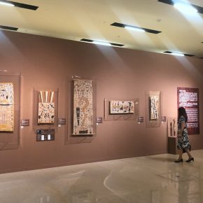01 Exhibition View 290x290 - The Magnificent Tour of Australia's Aboriginal Bark Paintings in China Debuted at the National Museum of China