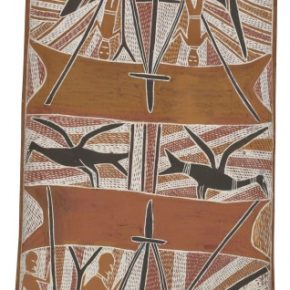 BirrikiTji GUMANA Makasar Prau 1966 licensed by Aboriginal Artists Agency 290x290 - The Magnificent Tour of Australia's Aboriginal Bark Paintings in China Debuted at the National Museum of China