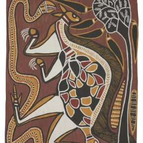 David Malangi Totems of the Manharrŋu Mortuary Rites 1966 National Museum of Australia 290x290 - The Magnificent Tour of Australia's Aboriginal Bark Paintings in China Debuted at the National Museum of China