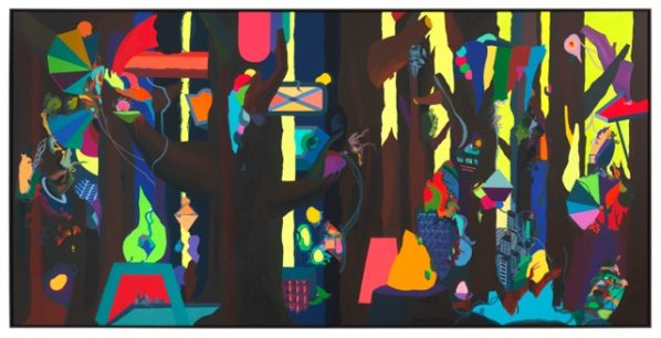 """Franz Ackermann Wild Forest 2012 Oil on canvas 540x260cm 598x306 - The Guangdong Museum of Art presents """"PAINTING AFTER PAINTING AFTER PAINTING AFTER"""" in Guangzhou"""