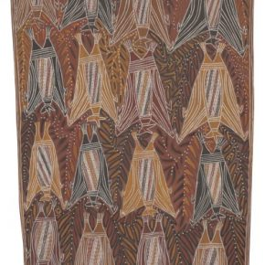 George Milpurrurru Yirritja Ngarra Flying Fox Dance 1966 licensed by Aboriginal Artists Agency 290x290 - The Magnificent Tour of Australia's Aboriginal Bark Paintings in China Debuted at the National Museum of China