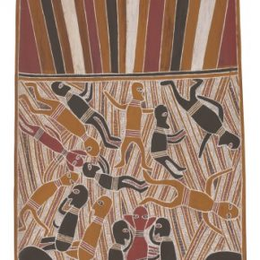Mathaman Marika Rirratjingu Mortuary Ceremony 1967 licensed by Aboriginal Artists Agency 290x290 - The Magnificent Tour of Australia's Aboriginal Bark Paintings in China Debuted at the National Museum of China
