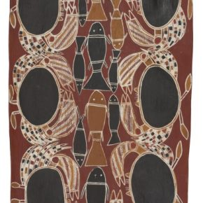 Tom DJÄWA Crabs 1965 licensed by Aboriginal Artists Agency 290x290 - The Magnificent Tour of Australia's Aboriginal Bark Paintings in China Debuted at the National Museum of China